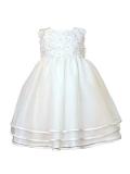 Heritage Girl's Monica Sleeveless Dress. Age sizes birth - 2 years.