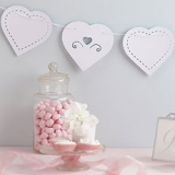 WEDDING HEARTS PAPER BUNTING