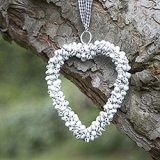 WHITE BELL HEART DECORATION