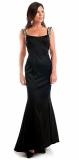 ARIELLA KIMBERLEY SATIN JEWEL LONG DRESS