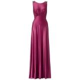 ARIELLA HARPER JERSEY LONG DRESS MAGENTA