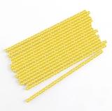 Yellow Wedding Party Straws