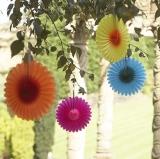 Mini Flower Fan Decorations