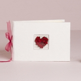 Red Heart Guest Book