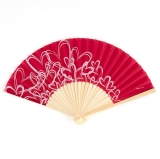 Red Fan With Heart Detail