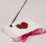 Red Romantic Paper Wrapped Pen Set