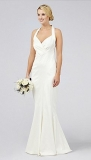 Debenhams - Debut Destiny Halter Neck Satin Wedding Dress