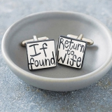 'If Found Return To Wife' Cufflinks