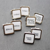 White Wedding Party Cufflinks