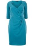 Evans - SCARLETT & JO MOSAIC BLUE CITY DRESS