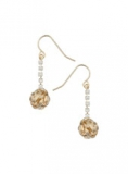Evans - EVANS GOLD KNOT AND CRYSTAL EARRINGS