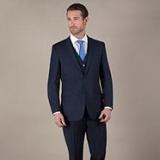 Debenhams - Navy pick and pick 2 button suit jacket