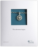 Lily Charmed - Silver Compass Bracelet