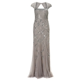 John Lewis - Adriana Papell Cap Sleeve Beaded Dress