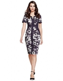 Marks and Spencer - Cotton Rich Bloom Floral Shift Dress