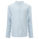John Lewis - John Lewis Heirloom Boys Nehru Collar Shirt