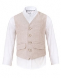 Monsoon - Henry Herringbone Waistcoat And Shirt Set
