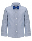 Monsoon - Blue Stripe Shirt And Bow Tie