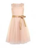House of Fraser - Little Misdress Girls Beaded Yoke Dress