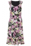 Bonmarche - Rose Print Pleated Strap Tea Dress