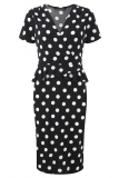 Bonmarche - David Emanuel Spot Peplum Dress