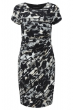 Bonmarche - David Emanuel Floral Scratch Print Side Pleat Dress