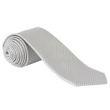 John Lewis - John Lewis Semi Plain Wedding Tie, Silver