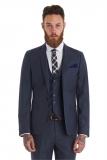 Moss Bros - Moss Bros Slim Fit Grey Flannel Wedding Suit