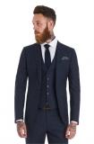 Moss Bros - Moss Bross Slim Fit Blue Speckled Wedding Suit