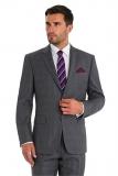 Moss Bros - Moss Esq. Regular Fit Grey Check Wedding Suit