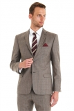 Moss Bros - Moss Bros - Ted Baker Tailored Fit Brown Rusty Check Wedding Suit