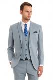 Moss Bros - Moss Bros Blazer Tailored Fit 3 Piece Blue Duck Egg Wedding Suit