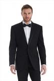 Moss Bros - Moss Bros Tailored Fit Black Satin Edge Tuxedo Jacket