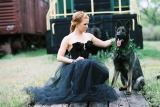 Etsy - Etsy - The Black Ruffled Tulle Wedding Dress in Black Lace by darkponydesigns