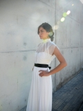 Etsy - Etsy - Chic and modern wedding dress with sheer top and black or white belt by Barzelai
