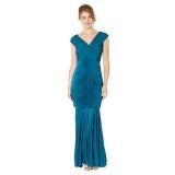 Debenhams - Debenhams Debut Dark turquoise ruched jersey maxi dress