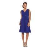 Debenhams - Debenhams Debut Cobalt blue jewel-trim midi dress