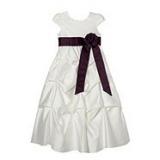 Debenhams - Designer girl's plum tiered occasion dress