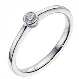 Ernest Jones - 9ct white gold diamond solitaire ring