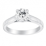 Ernest Jones - 18ct white gold 1ct claw set solitaire diamond