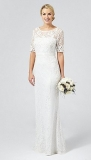 Debenhams - Debut Ivory 'Paloma' lace and beaded wedding dress