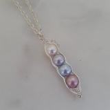 Zoe Hearts - 4 Pea in a Pod Necklace