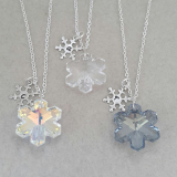 Zoe Hearts - Rainbow Crystal Snowflake Necklace