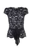 Jacques Vert - Navy Lace Top