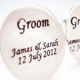 Not On The High Street.com - Personalised 'Groom' Wedding Cufflinks