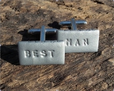 Not On The High Street.com - Personalised Best Man Cufflinks