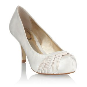 Debenhams Ivory Weave Bridal Court Shoe