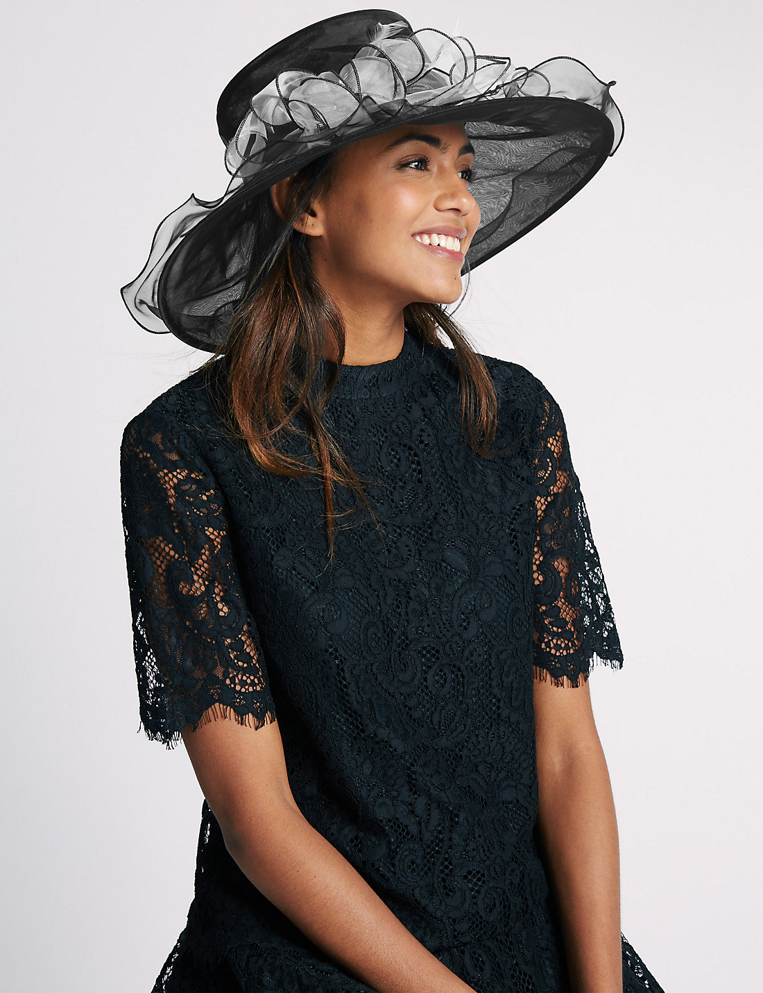 Large Foldable Fluted Hat At Marks and Spencer