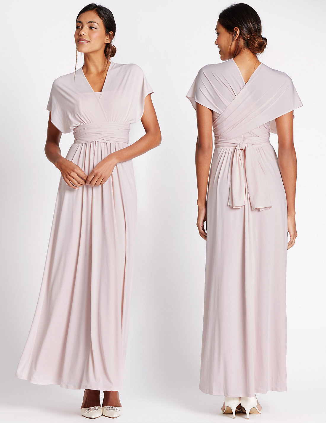 A bridesmaid dress with 6 different styles marks and spencer pink multiway strap maxi dress ombrellifo Choice Image