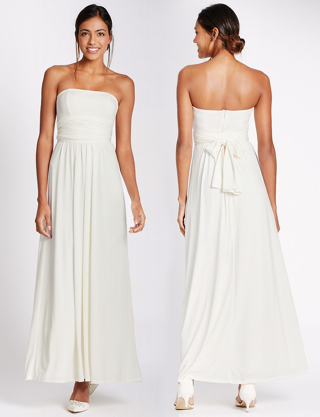 Marks and Spencer Ivory Multiway Strap Maxi Dress
